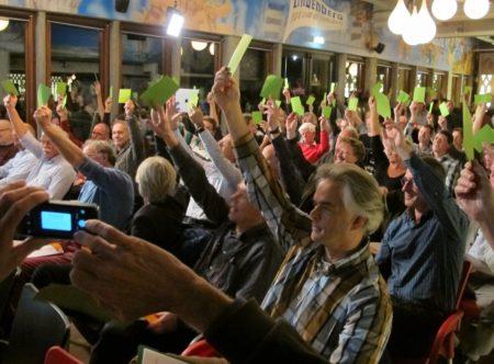 Leden WindpowerNijmegen stemmen unaniem voor investering van 2 mln in windpark